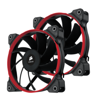 2 x Corsair 120 Quiet Edition Fans (Colored rings Blue, Red, or White)