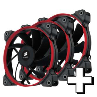 Max Corsair 120 Performance Edition Up to Six Fans (Colored rings Blue, Red, or White)