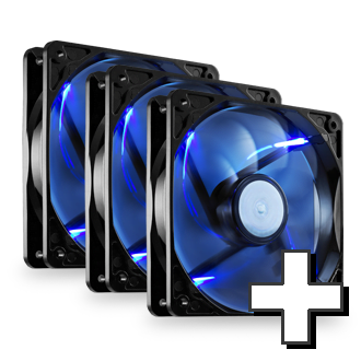 Max 120mm Blue LED High Performance Up to Six Fans