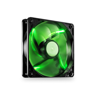 1 x 120mm Green LED High Performance Fan