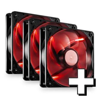 Max 120mm Red LED High Performance Up to Six Fans